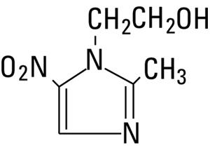 Structural Formula of Metronidazole, USP